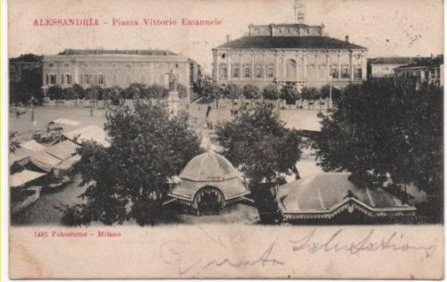 1900 - Alessandria Piazza Vittorio Emanuele