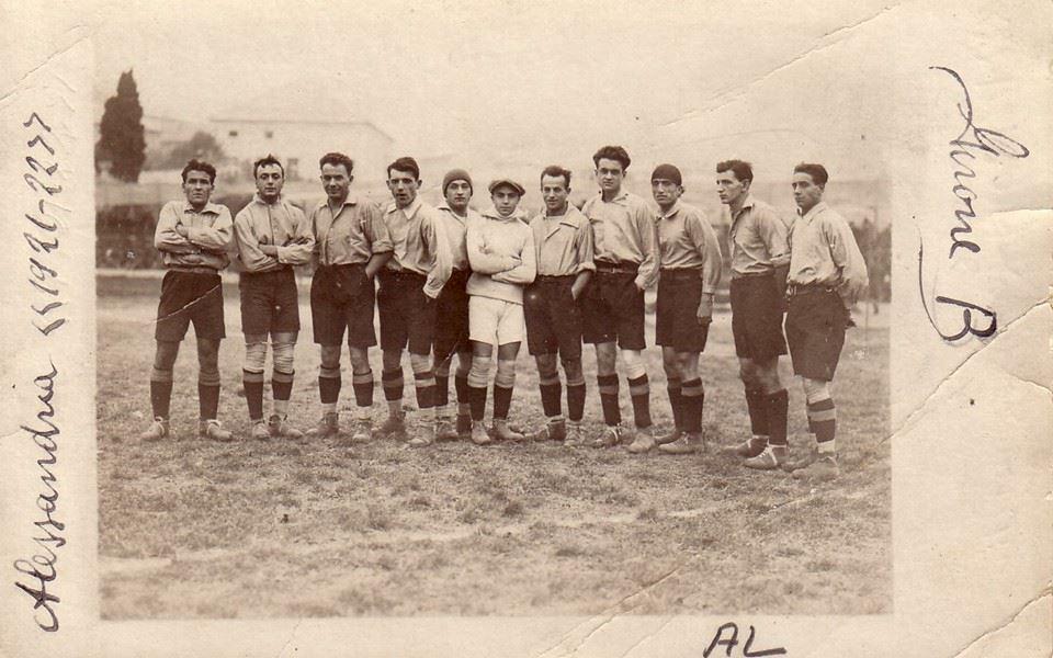 Da sinistra a destra: Bay I, Lazoli II, Carcano, Bosio, Gandini, Caviglia, Baloncieri, Brezzi, Papa II, Baucia, Lauro.