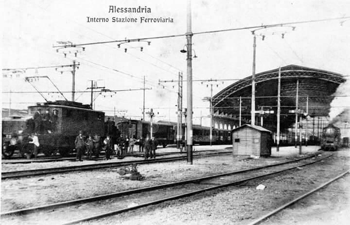 Stazione di Alessandria all'epoca del Trifase