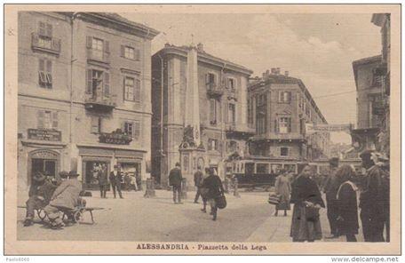 1915-Alessandria, Piazzetta della Lega