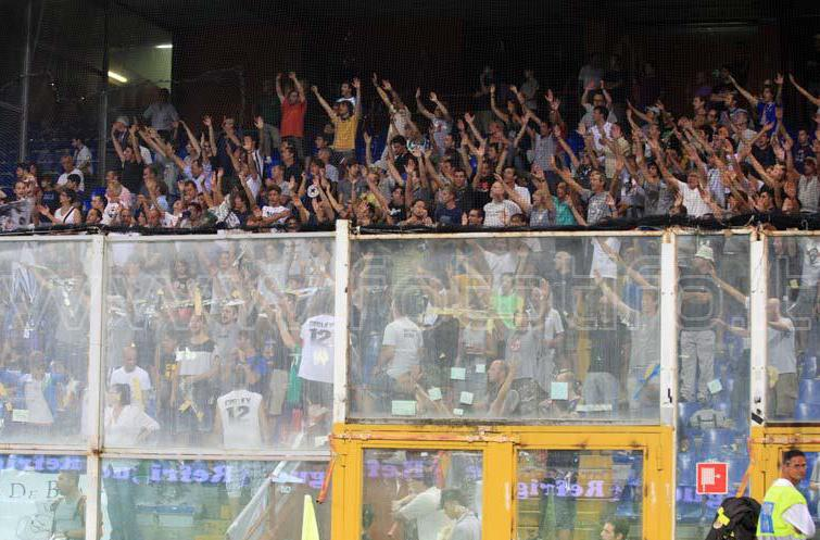14 Agosto 2011 - Sampdoria-Alessandria di Coppa Italia. La curva grigia