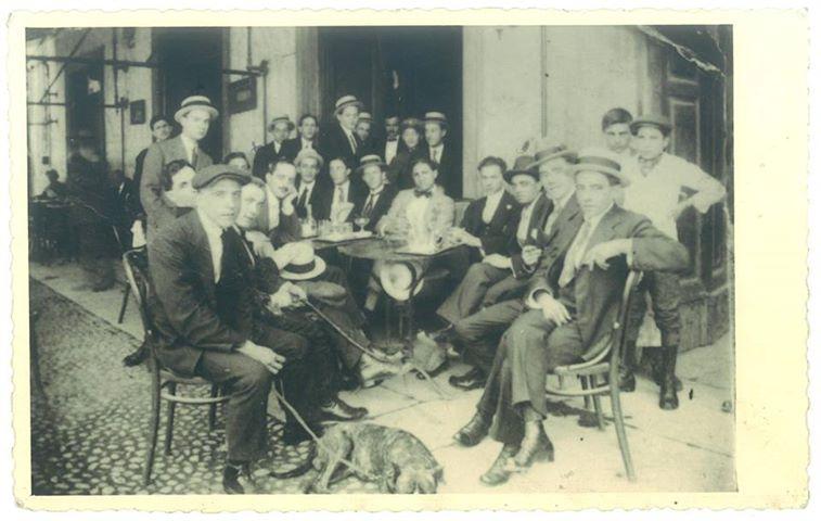 Caffè Roma - Piazza Rattazzi (ora Piazza della Libertà) - 1914