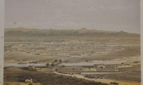 Alessandria, veduta volo d'uccello. 1859.
