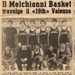 il mitico Melchionni basket ,leva del 62