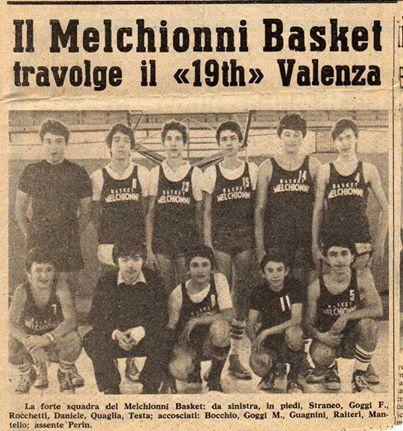 il mitico Melchionni basket ,leva del 62, allenata dal grande coach Roberto Ricchini allenatore della nazionale femminile.