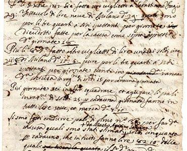 ALESSANDRIA 4 ottobre 1717… nota spese…