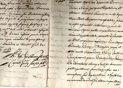 ALESSANDRIA… copia di una bolla PONTIFICIA del 1465…. riscritta nell'anno 1763