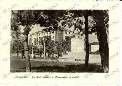 1950 - Giardini pubblici - Monumento ai caduti.
