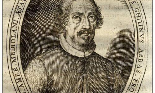 1697-ritratto di Girolamo Ghilini (Hieronymus Ghilinus) Alessandria.