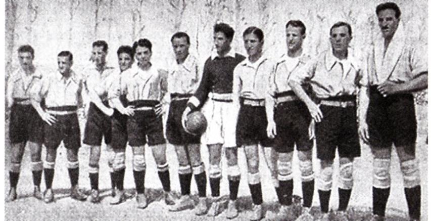 1919 - La squadra dell'Alessandria Fbc vincitrice della Coppa Brezzi