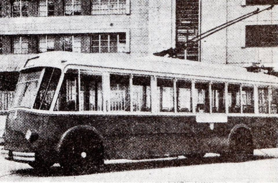 1952 - Uno dei primi filobus circolanti in Alessandria