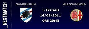 14 Agosto 2011 – Sampdoria – Alessandria 3-2 (Coppa Italia)
