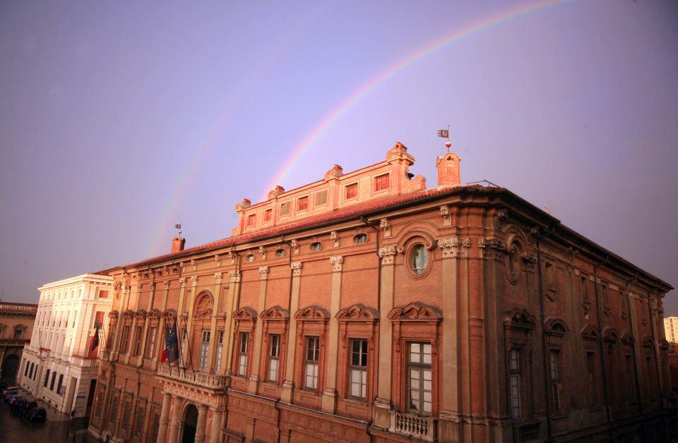 L'arcobaleno sulla Prefettura - Dicembre 2014