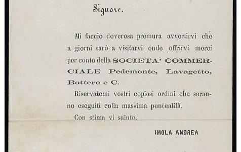 Lettera intestata da Alessandria a Castelnuovo Sc. 1882