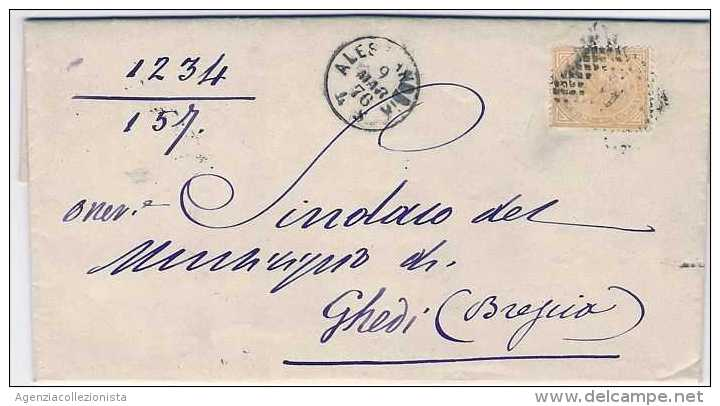 Lettera dal Municipio di Alessandria per Ghedi (Bs)