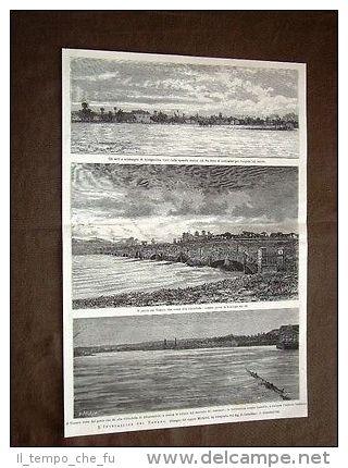 Inondazione tanaro nel 1879 - orti e sobborghi di al - ponte galateri
