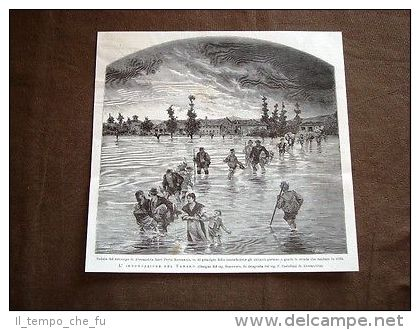 Inondazione tanaro 1879 - sobborgo di al - fuori porta Ravennate