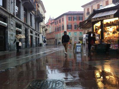 Piazzetta della Lega sotto la pioggia - 2014