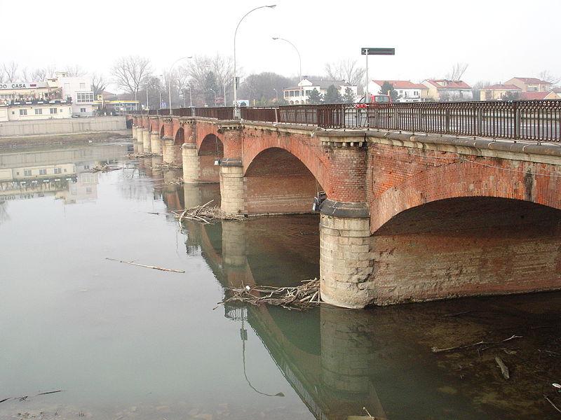 l ponte pochi anni prima della sua demolizione.