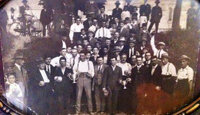 Soci fondatori del circolo La Boccia anni 20/30