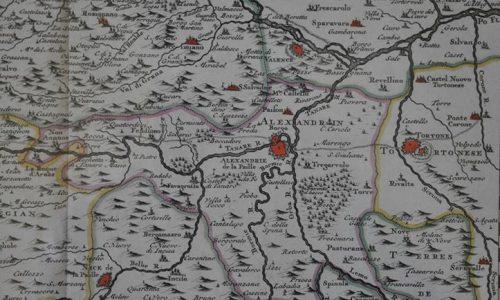 Le cours du Po dans le Piemont et le Montferrat. 1735 Particolare Alessandria e zone limitrofe.