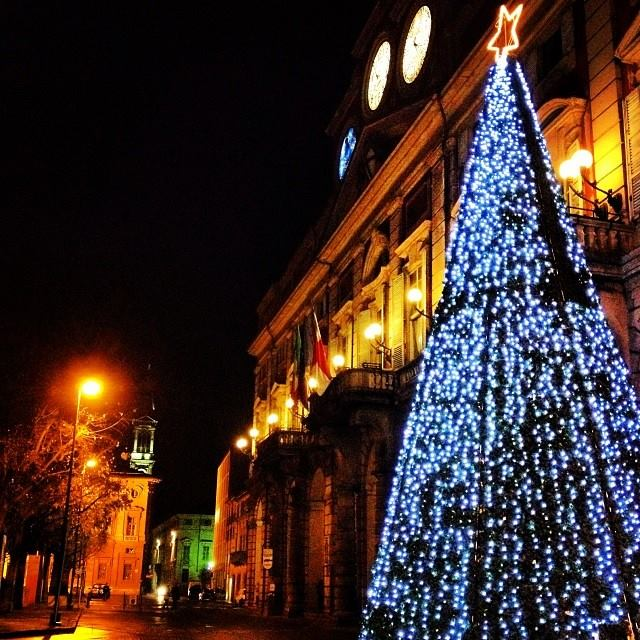 Palazzo Rosso (Municipio) sotto Natale - 2013
