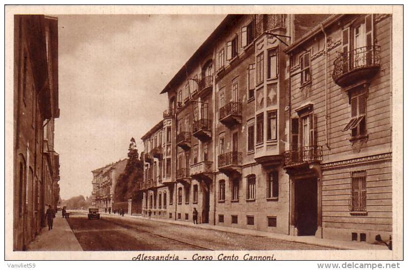 ALESSANDRIA CORSO CENTO CANNONI VIAGGIATA IL 29-12-1931.