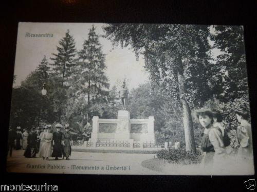 ALESSANDRIA GIARDINI PUBBLICI 1909 VIAGGIATA ANIMATA