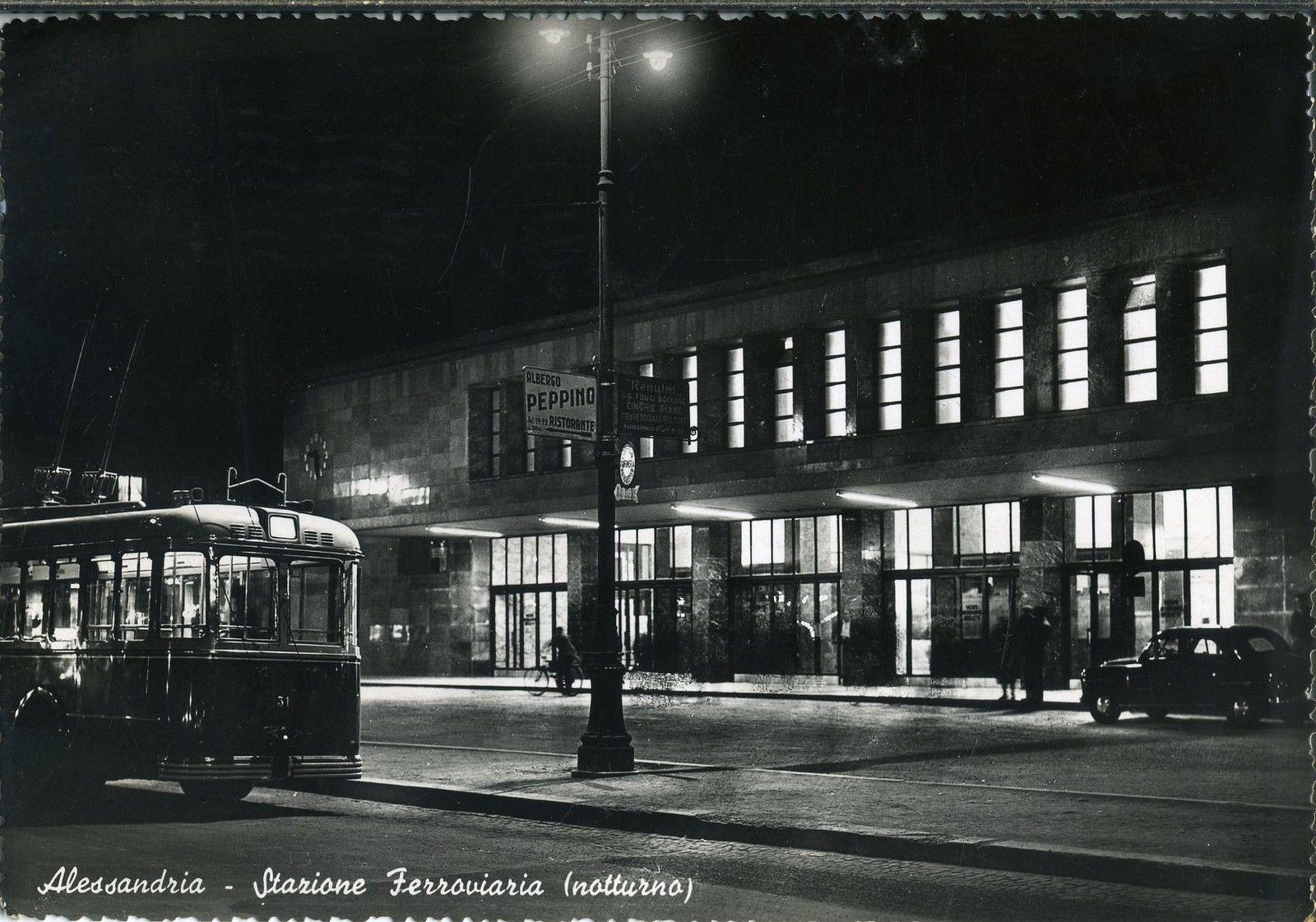 ALESSANDRIA città - Stazione Ferroviaria -  1954