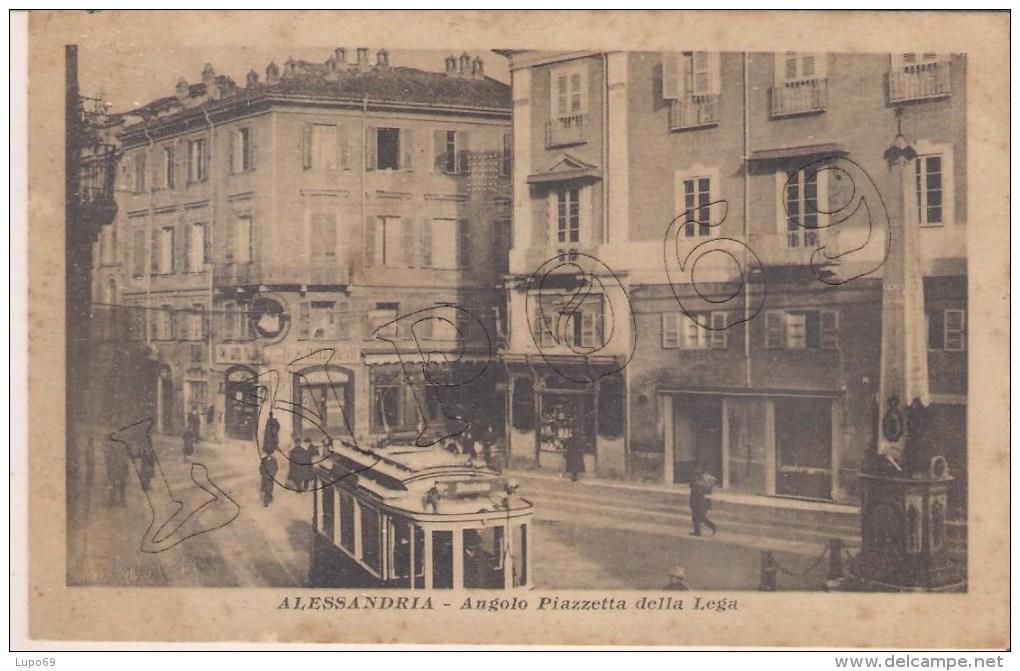 Alessandria - Angolo Piazzetta della Lega + Tram