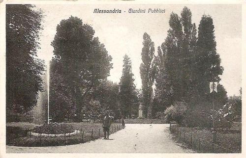 Alessandria - Giardini Pubblici - 1917