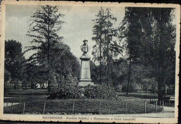 Alessandria Giardini Pubblici e Monumento a Sense Cavallotti