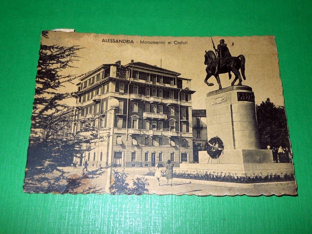 Cartolina Alessandria - Monumento ai Caduti 1942