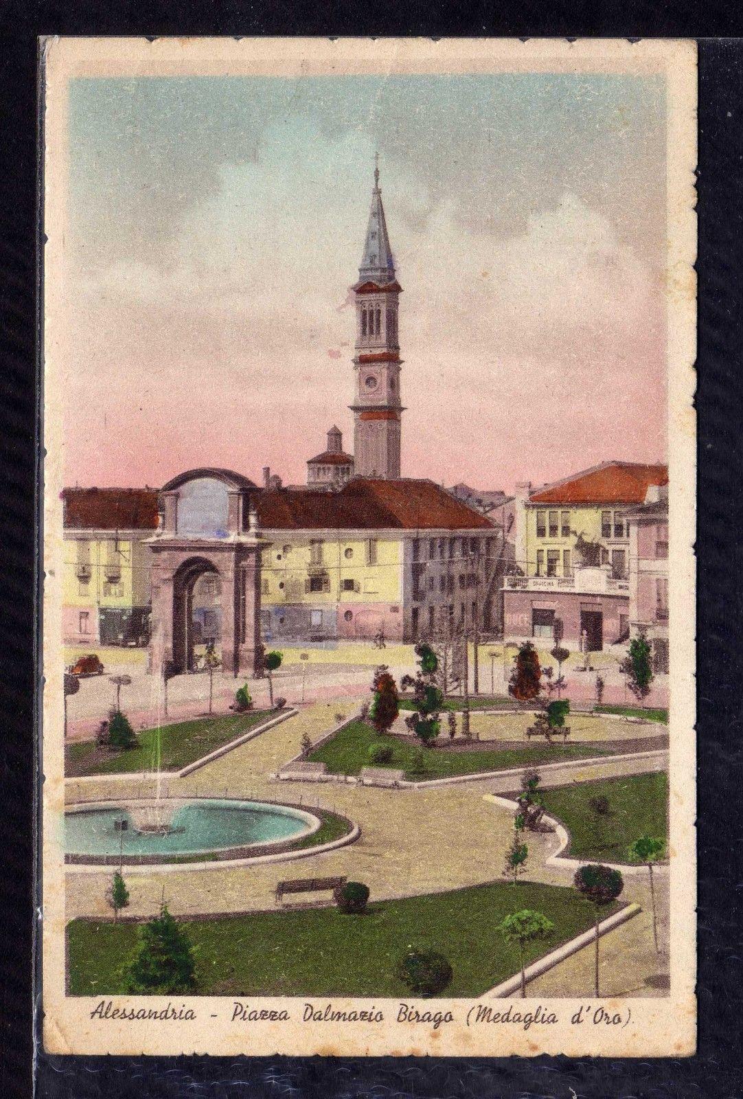 Cartolina-Alessandria-Piazza-Dalmazio-Birago