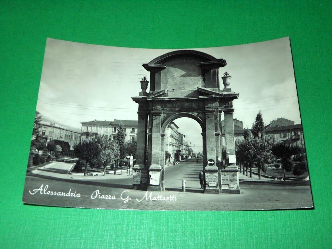 Cartolina Alessandria - Piazza G. Matteotti 1956