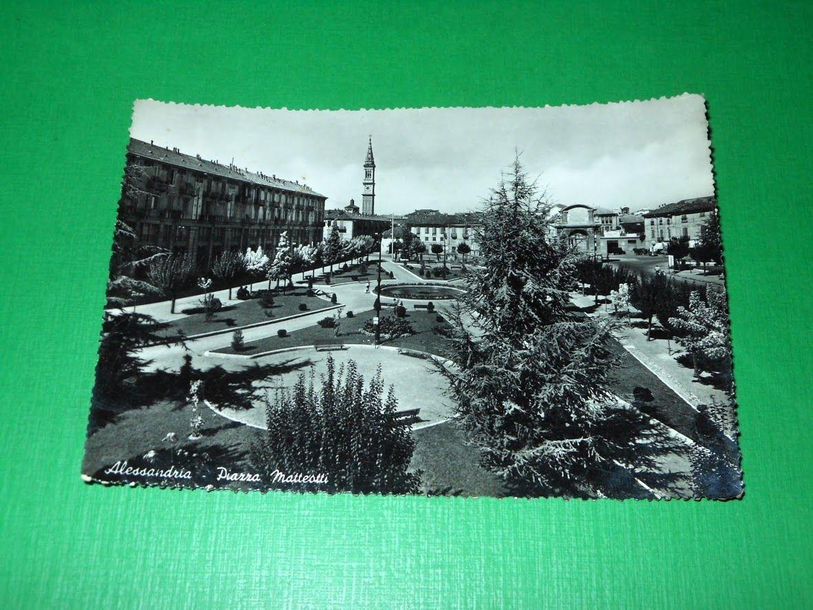 Cartolina Alessandria - Piazza Matteotti 1955