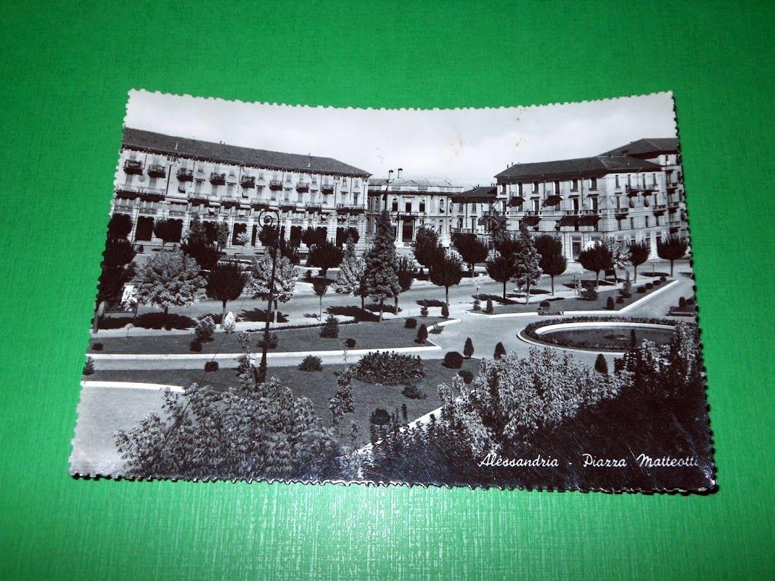 Cartolina Alessandria - Piazza Matteotti 1958