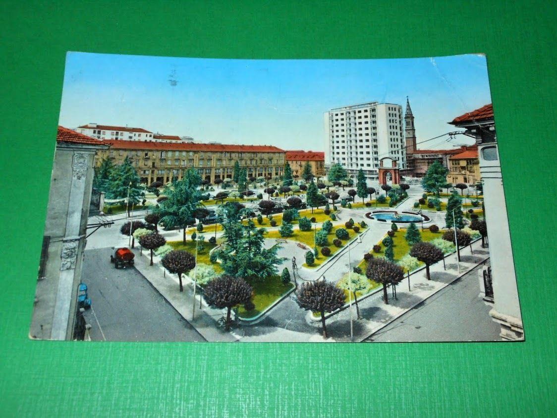 Cartolina Alessandria - Piazza Matteotti 1960