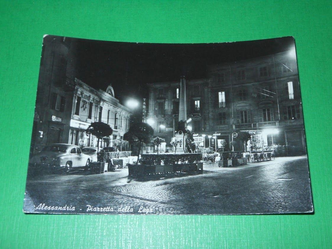 Cartolina Alessandria - Piazzetta della Lega 1963