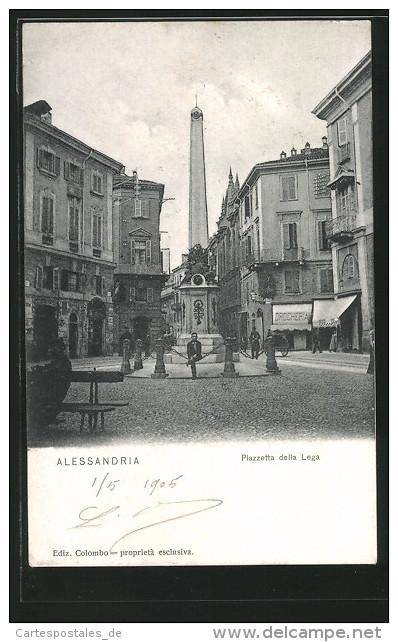 Cartolina Alessandria, Piazzetta della Lega