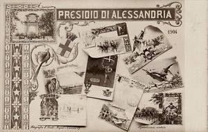"""Cartolina """"Presidio di Alessandria"""""""
