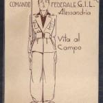 Cartoncino Comando Federale G.I.L. Alessandria – Vita al campo – supplizio