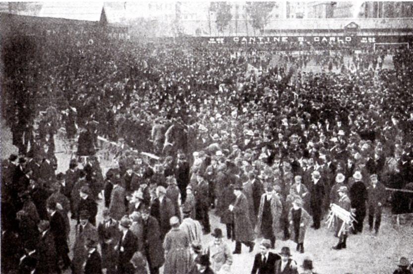 Genoa-Alessandria 1920 - i tifosi grigi a Marassi