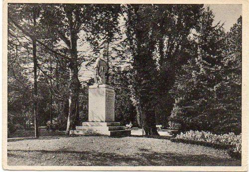 PIEMONTE ALESSANDRIA Giardini e Monumento a Vochieri 1940