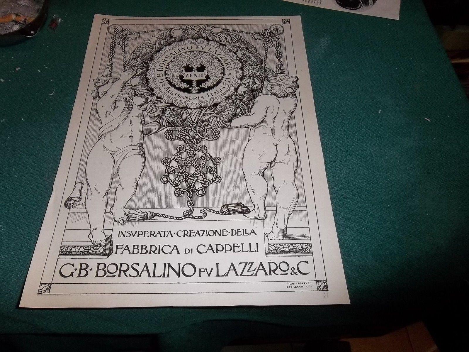PUBBLICITA ANNI 20, FABBRICA DI CAPPELLI G.B. BORSALINO FU LAZZARO, ALESSANDRIA.JPG