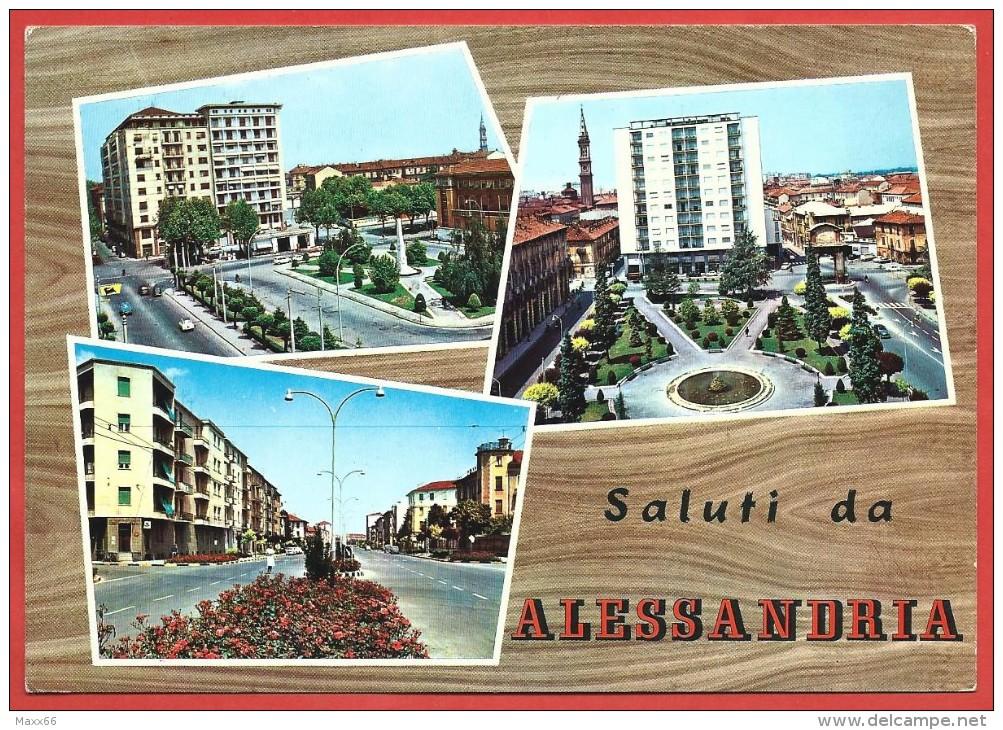 Saluti-da-ALESSANDRIA-Piazza-DAnnunzio-e-Matteotti-10-x-15-ANNULLO-1964