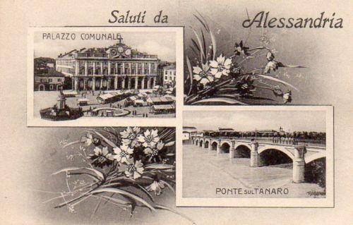 Saluti da Alessandria - Vedutine - Non Viaggiata - AL131