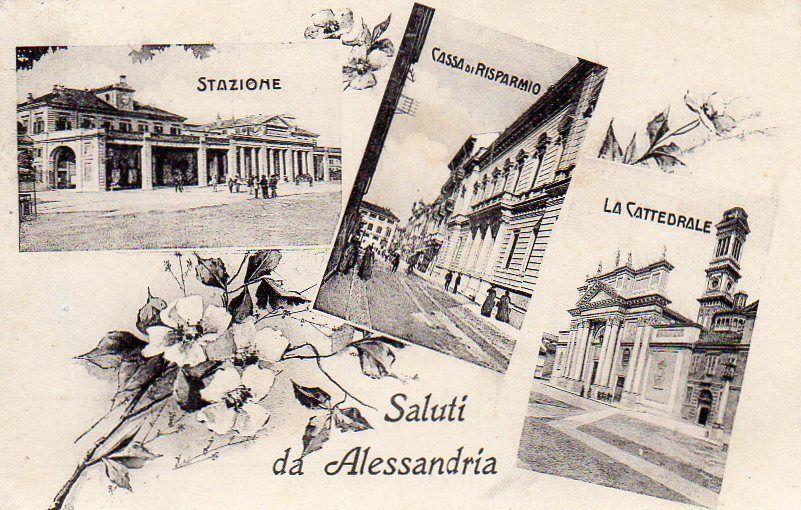 Saluti da Alessandria - Vedutine - 1912