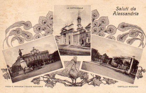 Saluti da Alessandria - Vedutine - 1926