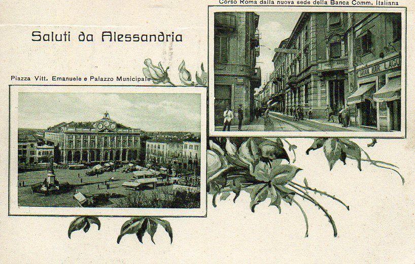 Saluti da Alessandria - Vedutine - 1927
